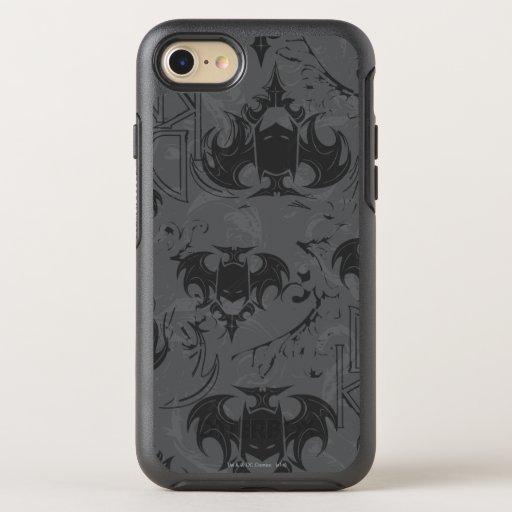 Batman Urban Legends - Dark Knight Goth Pattern OtterBox Symmetry iPhone 8/7 Case