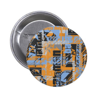Batman Urban Legends - Dark Night Text Orange Pinback Button