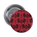 Batman Urban Legends - Goth Bat Pattern Red/Black Pinback Buttons