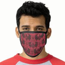 Batman Urban Legends - Goth Bat Pattern Red/Black Face Mask
