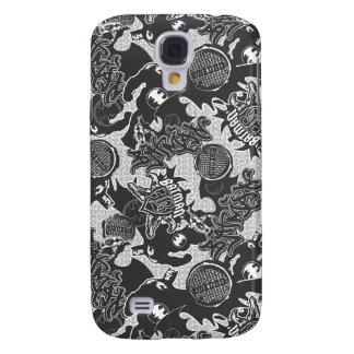 Batman Urban Legends - Graffiti Textile Pattern BW Samsung S4 Case