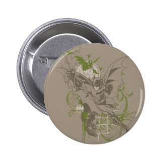 Batman Urban Legends - Green/Taupe Batman Swinging Button