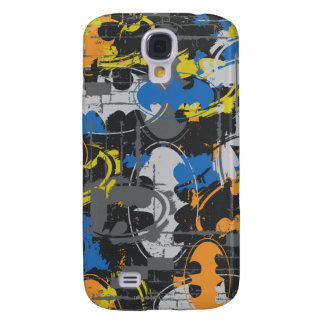Batman Urban Legends - Grunge Logo Blue/Orange Samsung Galaxy S4 Cover