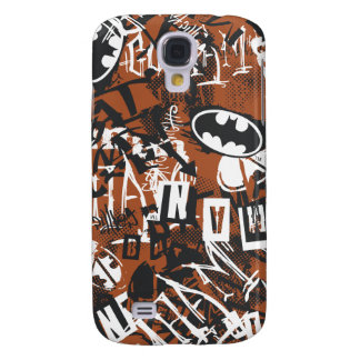 Batman Urban Legends - Grunge Logo Pattern 2 Brown Galaxy S4 Case