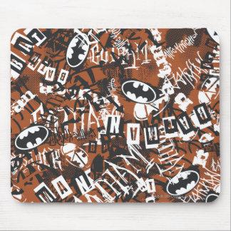 Batman Urban Legends - Grunge Logo Pattern 2 Brown Mouse Pad