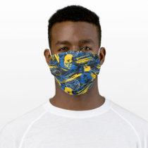 Batman Urban Legends - Head Pattern 2 Blue/Yellow Adult Cloth Face Mask