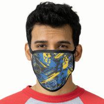 Batman Urban Legends - Head Pattern 2 Blue/Yellow Face Mask