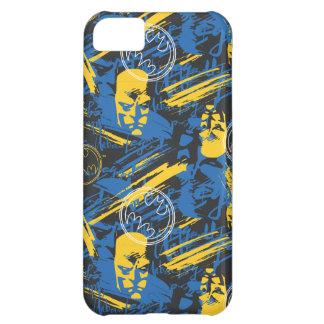 Batman Urban Legends - Head Pattern 2 Blue/Yellow iPhone 5C Case