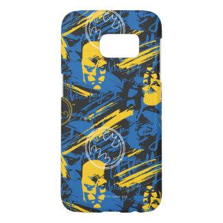 Batman Urban Legends - Head Pattern 2 Blue/Yellow Samsung Galaxy S7 Case