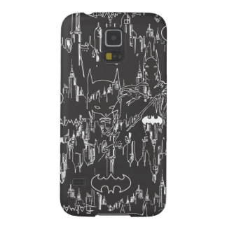 Batman Urban Legends - Line Art Pattern BW Galaxy S5 Cover