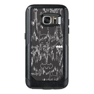 Batman Urban Legends - Line Art Pattern BW OtterBox Samsung Galaxy S7 Case