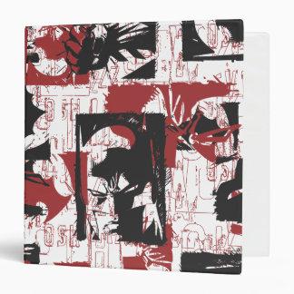 Batman Urban Legends - Mask & Fist Stamp Red 3 Ring Binder