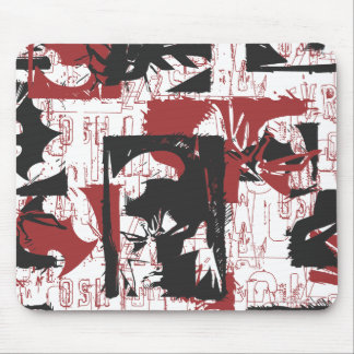 Batman Urban Legends - Mask & Fist Stamp Red Mouse Pad