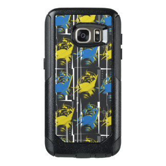 Batman Urban Legends - Mask Grid Pattern Blue/Yell OtterBox Samsung Galaxy S7 Case