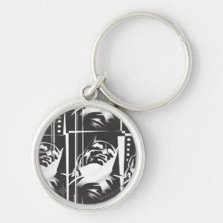 Batman Urban Legends - Mask Grid Pattern BW Keychain