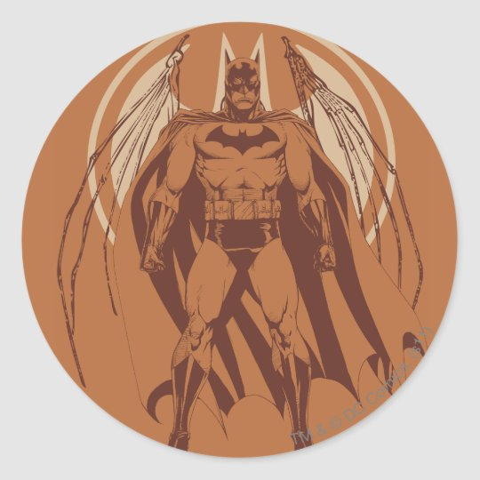 Batman Urban Legends - Orange Wings Classic Round Sticker