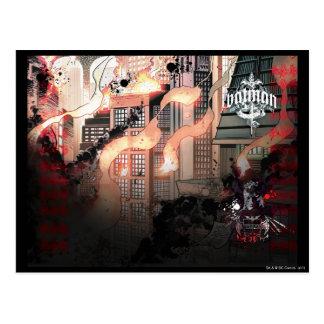 Batman Urban Legends - Red/Black Burning layout Postcard