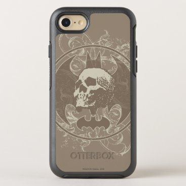 Batman Urban Legends - White/Taupe Skull OtterBox Symmetry iPhone 8/7 Case