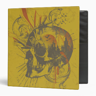 Batman Urban Legends - Yellow Skull 3 Ring Binder