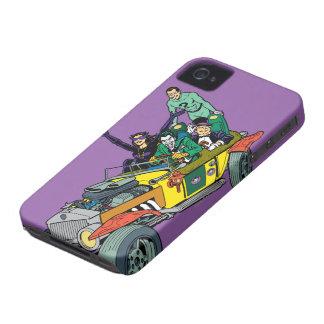 Batman Villains In Jokermobile iPhone 4 Covers