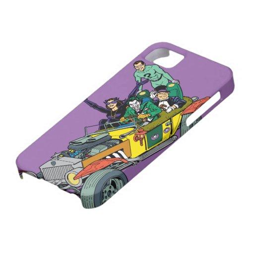 Batman Villains In Jokermobile iPhone 5 Case