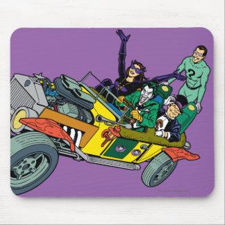 Batman Villains In Jokermobile Mouse Pad