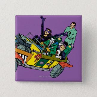 Batman Villains In Jokermobile Pinback Button