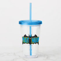 Batman | Vintage Blue Black Logo Acrylic Tumbler