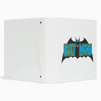 Batman   Vintage Blue Black Logo Binder