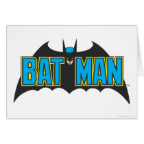 Batman | Vintage Blue Black Logo Card