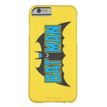 Batman | Vintage Blue Black Logo Barely There iPhone 6 Case