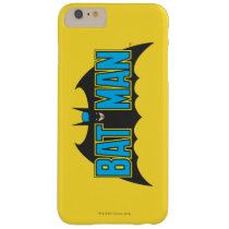Batman | Vintage Blue Black Logo Barely There iPhone 6 Plus Case