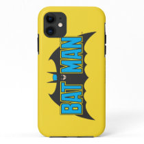 Batman | Vintage Blue Black Logo iPhone 11 Case