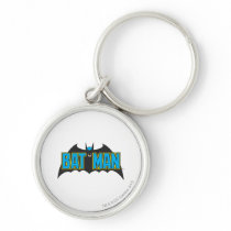 Batman | Vintage Blue Black Logo Keychain