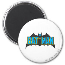 Batman | Vintage Blue Black Logo Magnet
