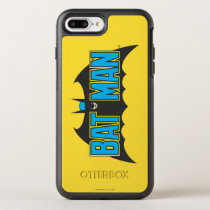 Batman | Vintage Blue Black Logo OtterBox Symmetry iPhone 8 Plus/7 Plus Case