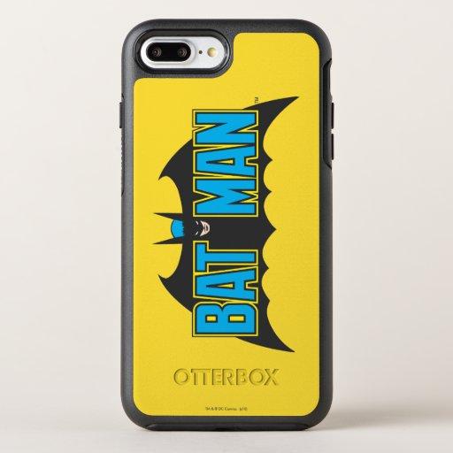 Batman | Vintage Blue Black Logo OtterBox Symmetry iPhone 8 Plus/7 Plus Case