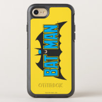 Batman | Vintage Blue Black Logo OtterBox Symmetry iPhone SE/8/7 Case