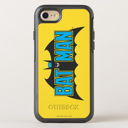 Batman | Vintage Blue Black Logo OtterBox Symmetry iPhone SE/8/7 Case