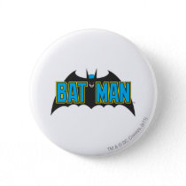 Batman | Vintage Blue Black Logo Pinback Button