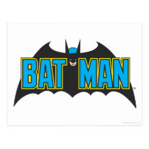 Batman | Vintage Blue Black Logo Postcard