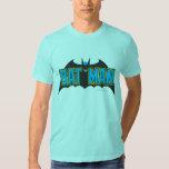Batman   Vintage Blue Black Logo Shirt