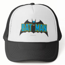 Batman | Vintage Blue Black Logo Trucker Hat
