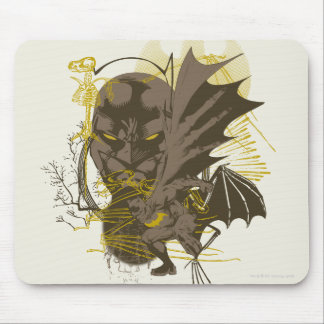 Batman Vintage Grunge Portrait Mouse Pad