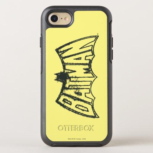 Batman | Vintage Symbol Logo OtterBox Symmetry iPhone 8/7 Case