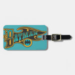 Batman   Vintage Turquoise Logo Tag For Luggage