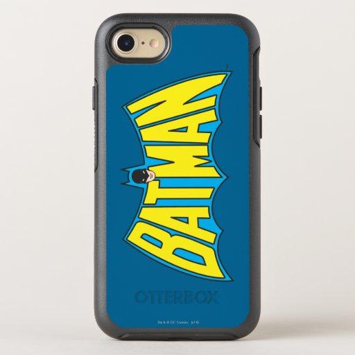 Batman | Vintage Yellow Blue Logo 2 OtterBox Symmetry iPhone SE/8/7 Case