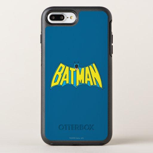 Batman | Vintage Yellow Blue Logo 2 OtterBox Symmetry iPhone 8 Plus/7 Plus Case