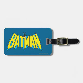 Batman | Vintage Yellow Blue Logo Bag Tag