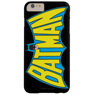 Batman | Vintage Yellow Blue Logo Barely There iPhone 6 Plus Case